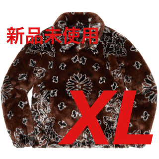 シュプリーム(Supreme)のBandana Faux Fur Bomber Jacket Brown XL(その他)