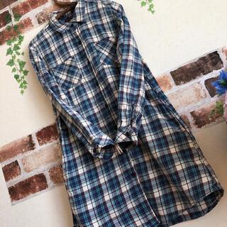 green label relaxing - グリーンレーベルリラクシング BLUE BLUE コラボ ロングシャツ 羽織り