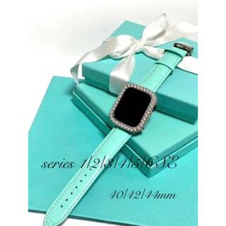 アップルウォッチ用カスタムダイヤカバーベルトセット(腕時計)