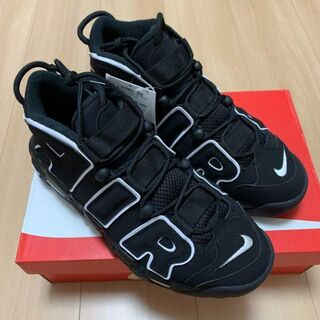 NIKE AIR MORE UPTEMPO BLACK/WHITE モアテン(スニーカー)