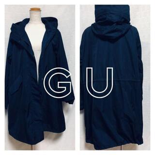ジーユー(GU)の【GU】ジーユー/ナイロンジャケット/紺色/レディースXLサイズ(ナイロンジャケット)