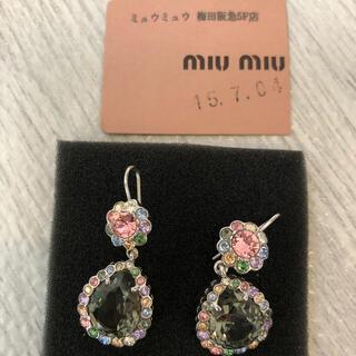 miumiu - miu miu 真鍮&クリスタルピアス