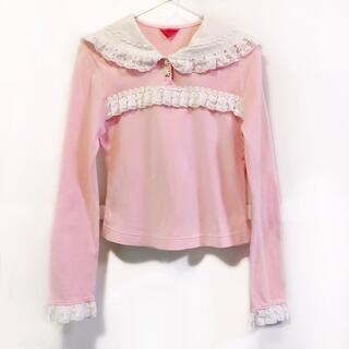 BABY,THE STARS SHINE BRIGHT - ベイビーザスターズシャインブライト セーラーシャツ テディベアレース ピンク
