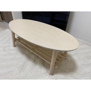 小ぶりサイズの棚付き折り畳みテーブル 90cm×43cm(ローテーブル)