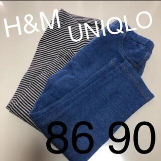 UNIQLO - UNIQLO レギンス  H&M  86 90