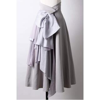 ラベルエチュード(la belle Etude)のラベルエチュード ドレープリボンスカート 新品未使用(ロングスカート)