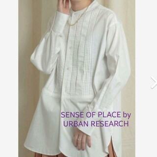SENSE OF PLACE by URBAN RESEARCH - ピンタック シャツ URBAN RESEARCH SENSE OF PLACE