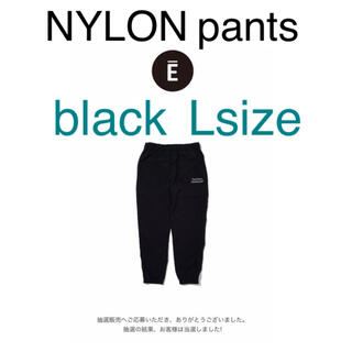 1LDK SELECT - ennoy nylon pants black/Lsize