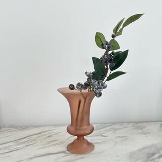 ZARA HOME - 花瓶 フラワーベース くすみカラー ブラウン花瓶