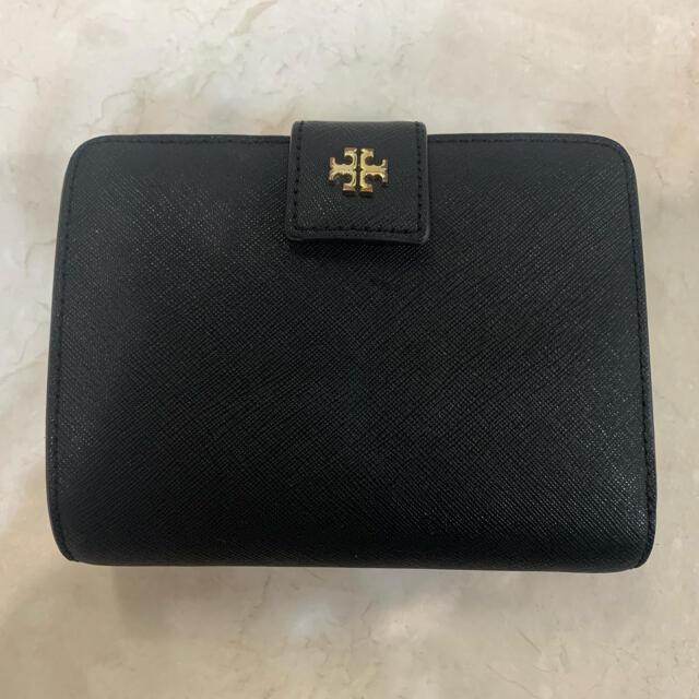 Tory Burch(トリーバーチ)のトリーバーチ TORY BURCH 二つ折り財布 ブラック  レディースのファッション小物(財布)の商品写真