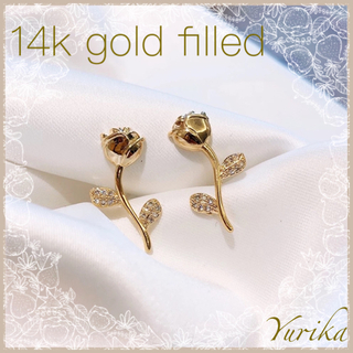 4℃ - antique rose pierce *14k gold filled