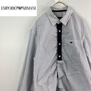 エンポリオアルマーニ(Emporio Armani)のEMPORIO ARMANIエンポリオアルマーニ長袖ストライプデザインシャツ39(シャツ)