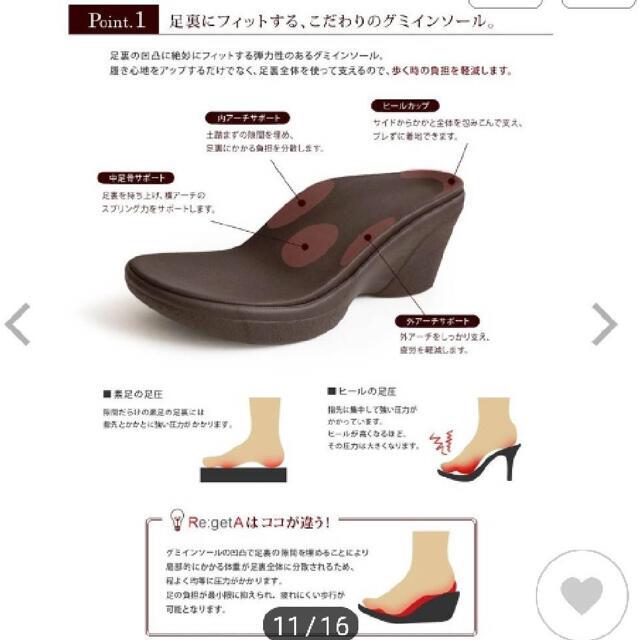 Re:getA(リゲッタ)の【美品】リゲッタ サンダル7cm  Sサイズ レディースの靴/シューズ(サンダル)の商品写真