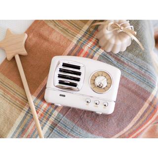 アンティークラジオ風Bluetoothスピーカー❁⃘白 韓国雑貨 韓国インテリア