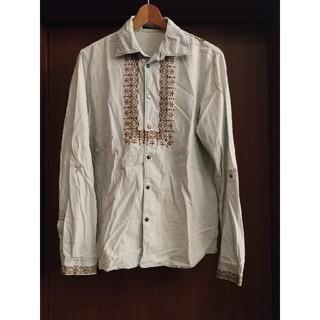 Iroquois - イロコイ Iroquois 刺繍 デニムシャツ サイズ2