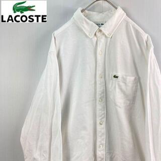 ラコステ(LACOSTE)のLACOSTEラコステ 長袖ボタンダウンシャツ 白L鹿の子(シャツ)