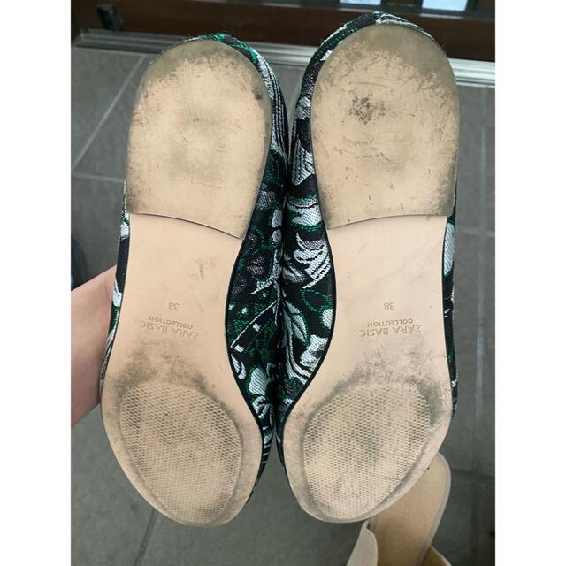 ZARA(ザラ)のZARA フラットパンプス レディースの靴/シューズ(スリッポン/モカシン)の商品写真