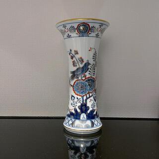 マイセン インドの鳥朱金 花瓶 アンティーク