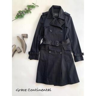 GRACE CONTINENTAL - 【グレースコンチネンタル】ロングトレンチコート ブラック