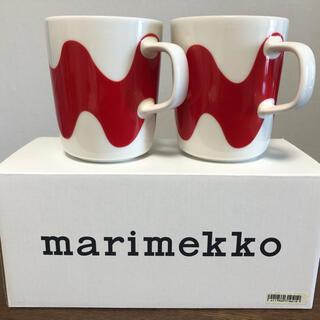 marimekko - 新品未使用 マリメッコ  LOKKI マグカップ 赤 2個セット