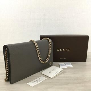 Gucci - 未使用品 GUCCI チェーンウォレット インターロッキング 295