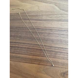 agete - K18ネックレス ダイヤモンド 0.05カラット