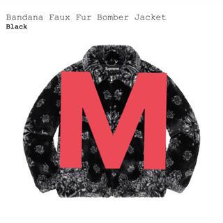 シュプリーム(Supreme)のsupreme Bandana Faux Fur Bomber Jacket 黒(ブルゾン)