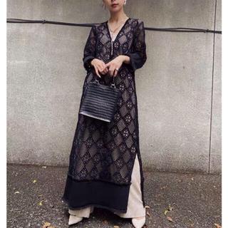 Ameri VINTAGE - アメリ Ameri gemetry lace dress