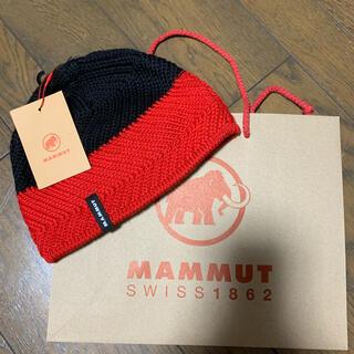 マムート(Mammut)の新品!タグ付き★ MAMMUT マムート マグマ(赤)×黒(ニット帽/ビーニー)