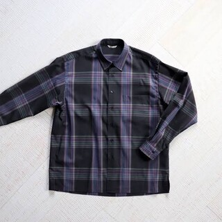 1LDK SELECT - auralee super light wool check shirts