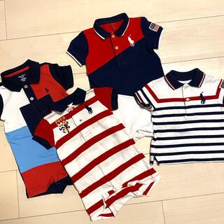 Ralph Lauren - Ralph Lauren ロンパース ポロシャツ 4点SET 新古品