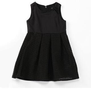 コムサイズム(COMME CA ISM)のコムサイズム ドッキングワンピース 120 ブラック フォーマル  卒園 入学式(ドレス/フォーマル)