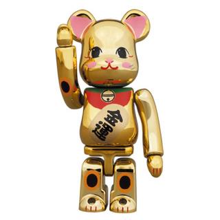 メディコムトイ(MEDICOM TOY)のBE@RBRICK 招き猫 金運 金メッキ 弐 100%×5個セット(その他)