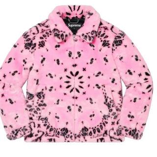 Supreme - Bandana Faux Fur Bomber Jacket Pink L