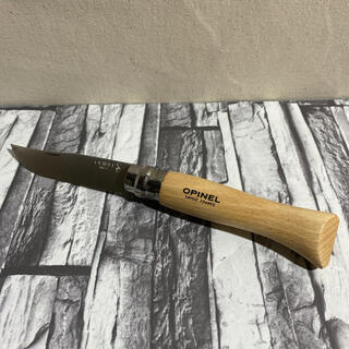 オピネル(OPINEL)のオピネル ステンレス9  折りたたみナイフ 新品(調理器具)