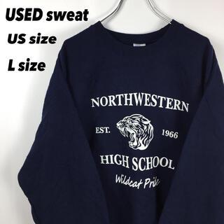 ギルタン(GILDAN)の古着 希少 アメリカ古着 スウェット カレッジ 大学 高校 オーバーサイズ XL(スウェット)