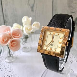 GIVENCHY - 【動作OK】GIVENCHY ジバンシー 腕時計 ゴールド スクエア