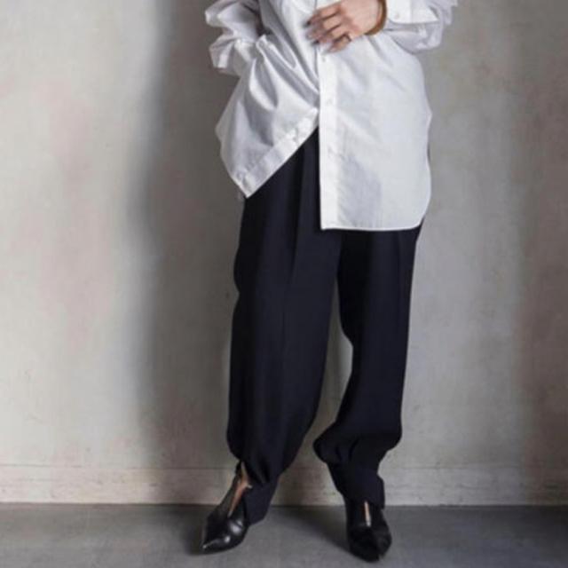 ENFOLD(エンフォルド)の[極美品] ENFOLD  20SS完売 POジョーゼット パンツ レディースのパンツ(カジュアルパンツ)の商品写真