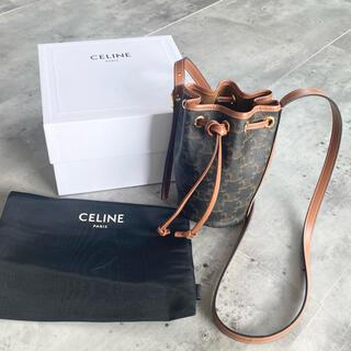 celine - CELINE マイクロ ドローストリングトリオンフ キャンバス & カーフスキン
