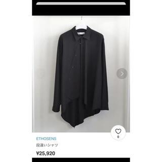 Yohji Yamamoto - 段違いシャツ 長袖 エトセンス