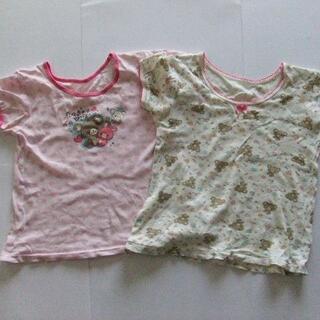 130 シャツ2枚セット 女の子