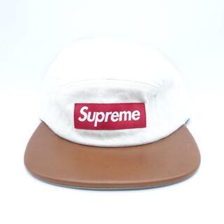 シュプリーム(Supreme)のSupreme 15aw Denim Leather Visor cap 大名(キャップ)