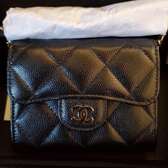 CHANEL(シャネル)のちょこ様専用♡新品♡CHANEL♡ミニチェーンウォレット♡ミニ財布♡ レディースのファッション小物(財布)の商品写真