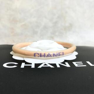 シャネル(CHANEL)の正規品 シャネル ブレスレット ロゴ ココマーク ビニール チューブ 銀 クリア(ブレスレット/バングル)