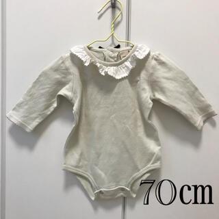 petit main - プティマイン 襟付きロンパース 70