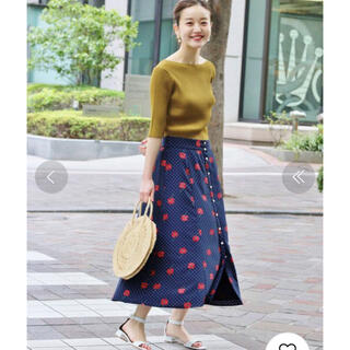 IENA - IENA ドット前ボタンスカート