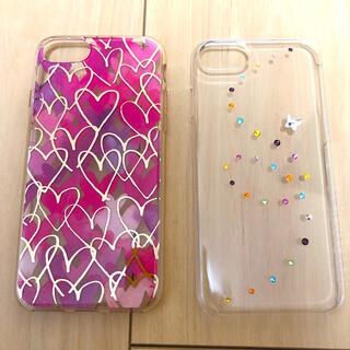 スワロフスキー(SWAROVSKI)のiPhoneケースセット:ハート スワロフスキー SE2 iPhone7 8(iPhoneケース)