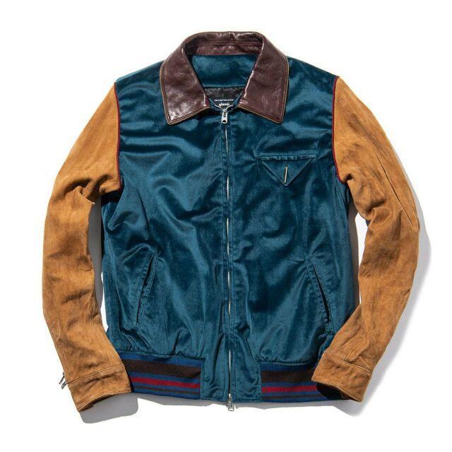 glamb(グラム)の定価4.6万・新品★glamb レザー切り替えライダースジャケット ブルゾン メンズのジャケット/アウター(レザージャケット)の商品写真