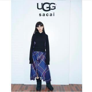 サカイ(sacai)のsacai 美品 チェック柄ワンピース(ロングワンピース/マキシワンピース)