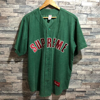 Supreme - Mサイズ supreme Corduroy baseball ベースボールシャツ